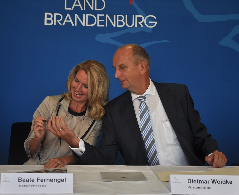 Präsidentin Fernengel und Woitdtke