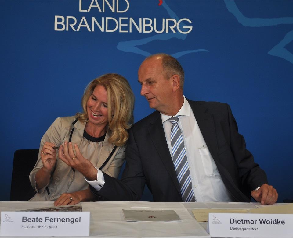 Präsidentin Fernengel und MinisterpräsidentWoitdtke